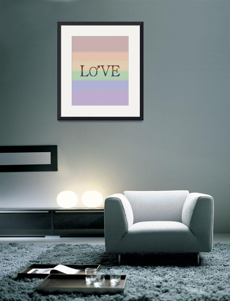 """""""Rainbow Love- With Male Gender Symbol - Gay Pride&quot  (2013) by LiveLoudGraphics"""