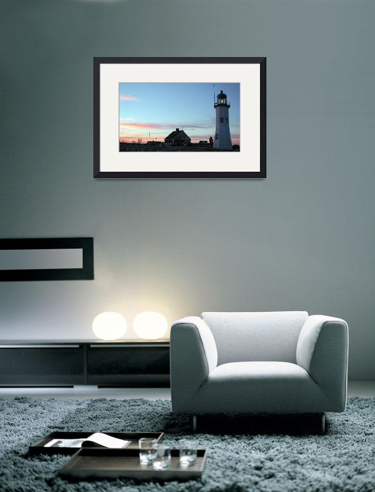 """Dusk at Scituate Light&quot  by EdgewaterGallery"