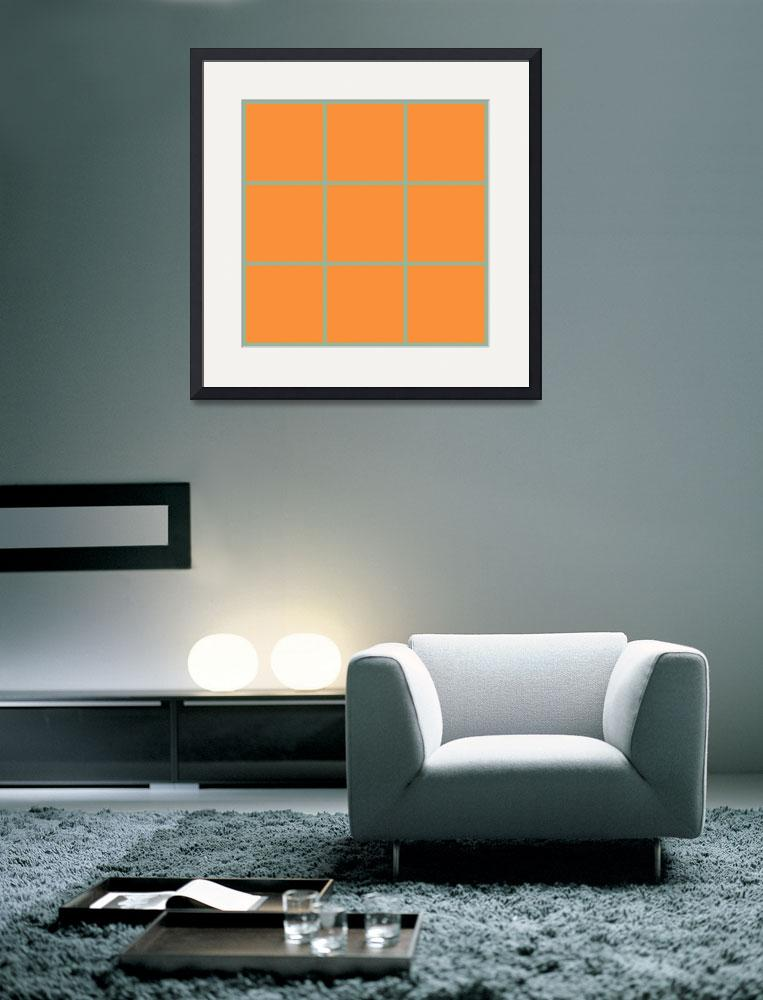 """Orange Window 098 Canvas Contemporary Modern&quot  (2010) by Ricardos"
