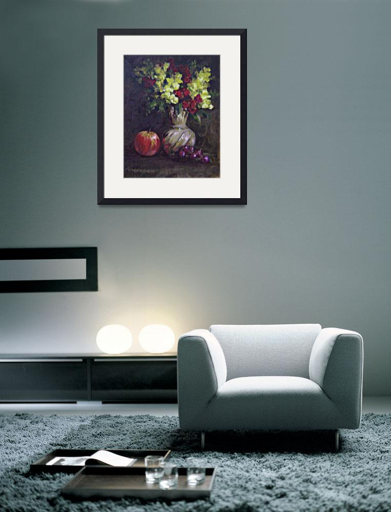 """""""Still Life with Snapdragons&quot  (2007) by TerryStanley"""