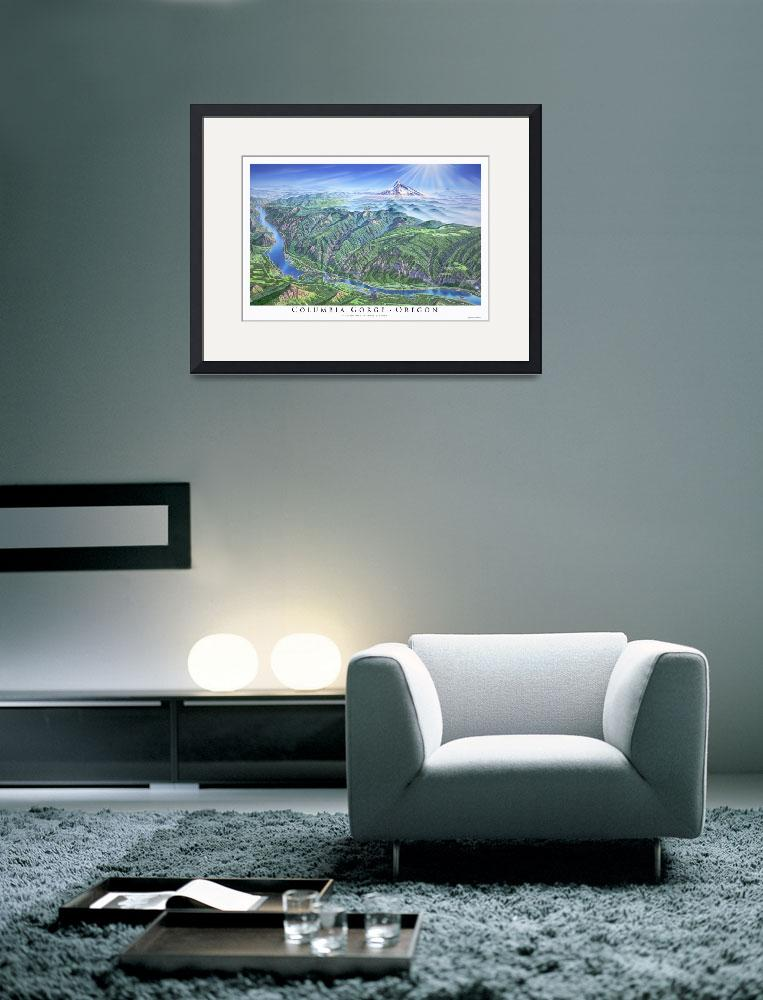 """""""Columbia Gorge&quot  (2001) by jamesniehuesmaps"""