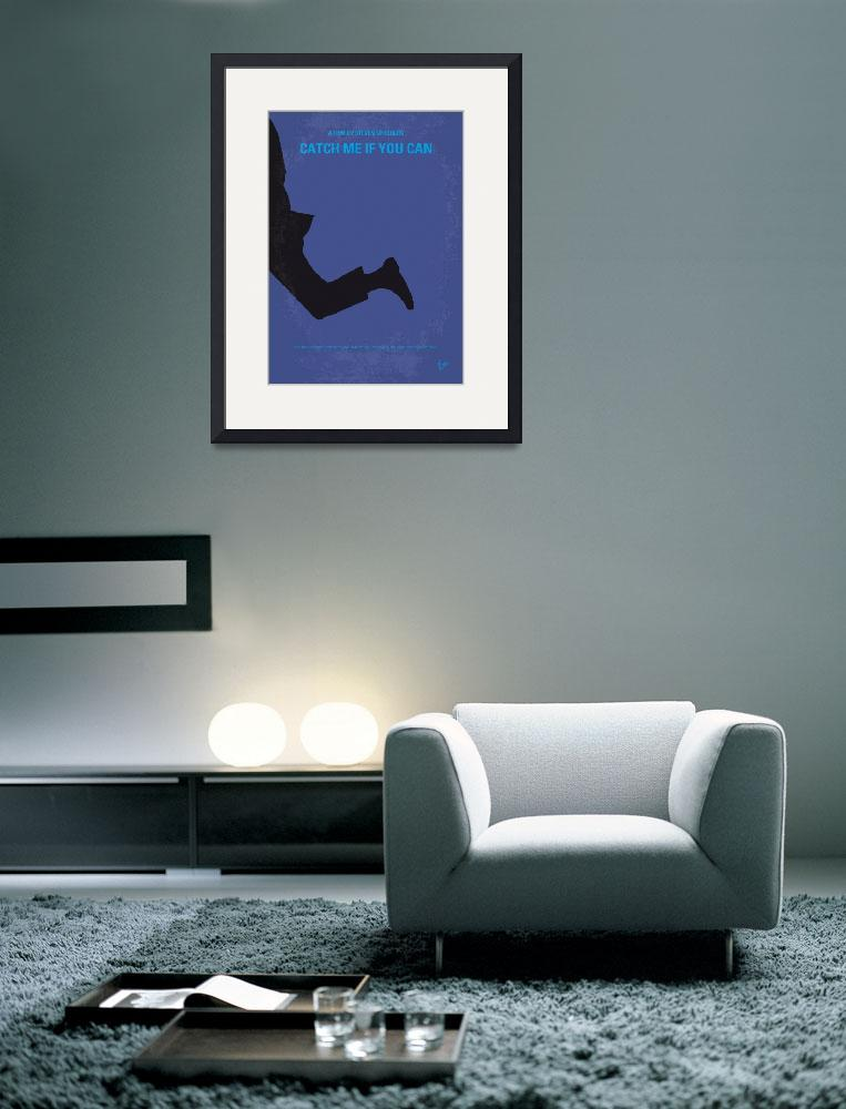 """""""No592 My Catch Me If You Can minimal movie poster&quot  by Chungkong"""