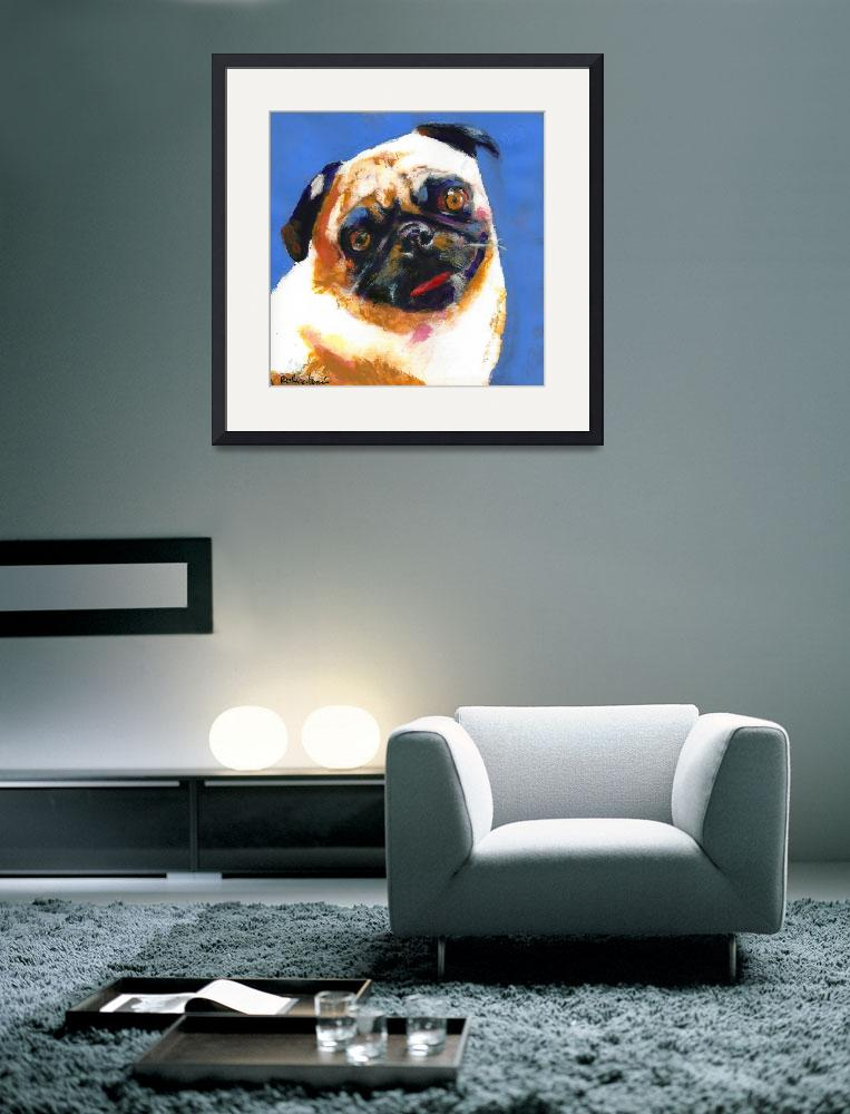 """Pug Blueboy large style painting""  (2005) by RDRiccoboni"