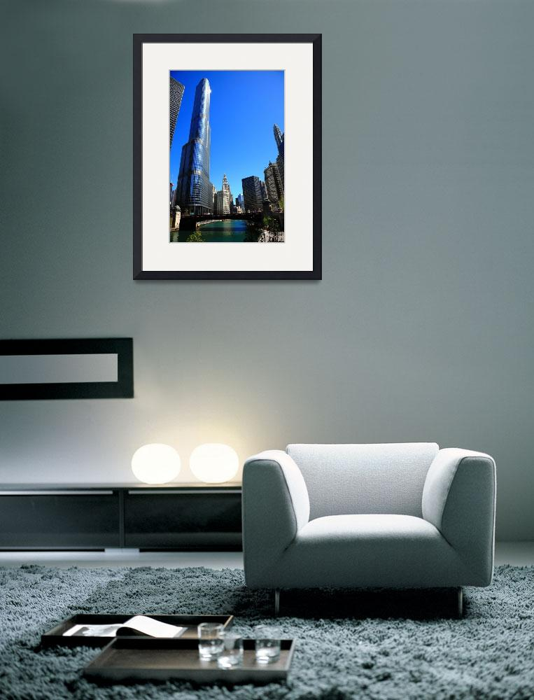 """Chicago River and Skyline 2010&quot  (2010) by Ffooter"