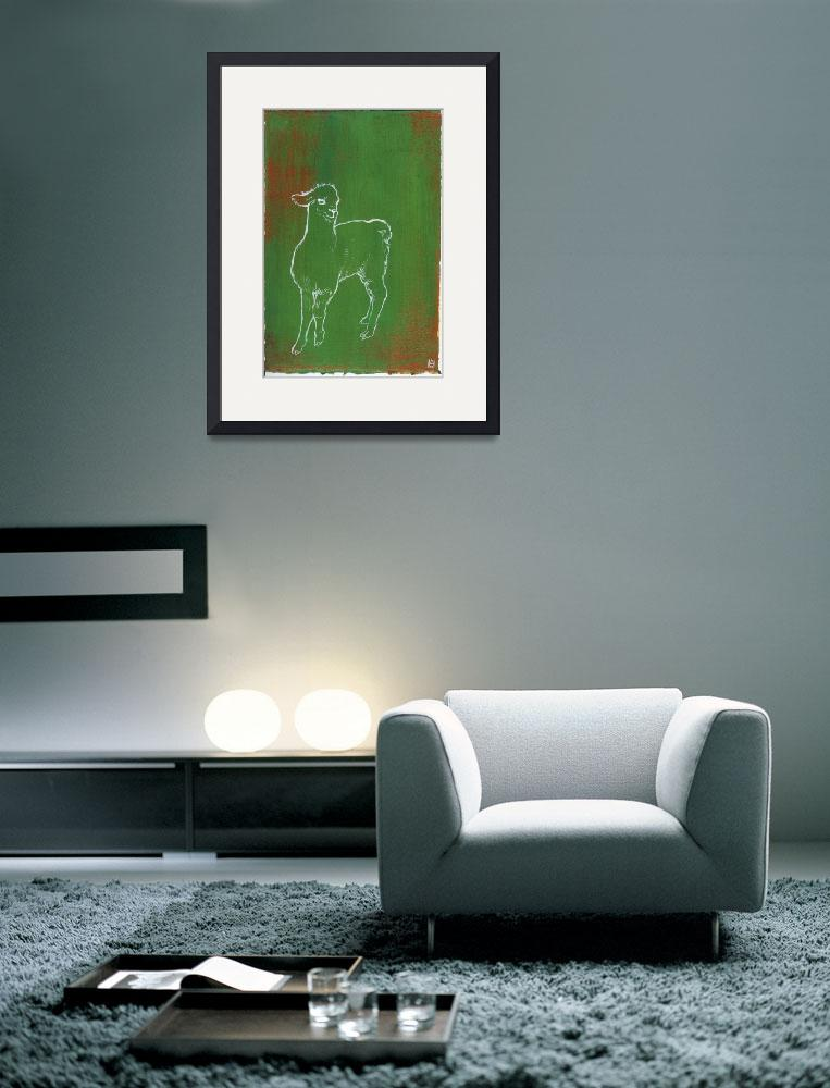 """Alpaca Green&quot  (2009) by StephHanWindham"