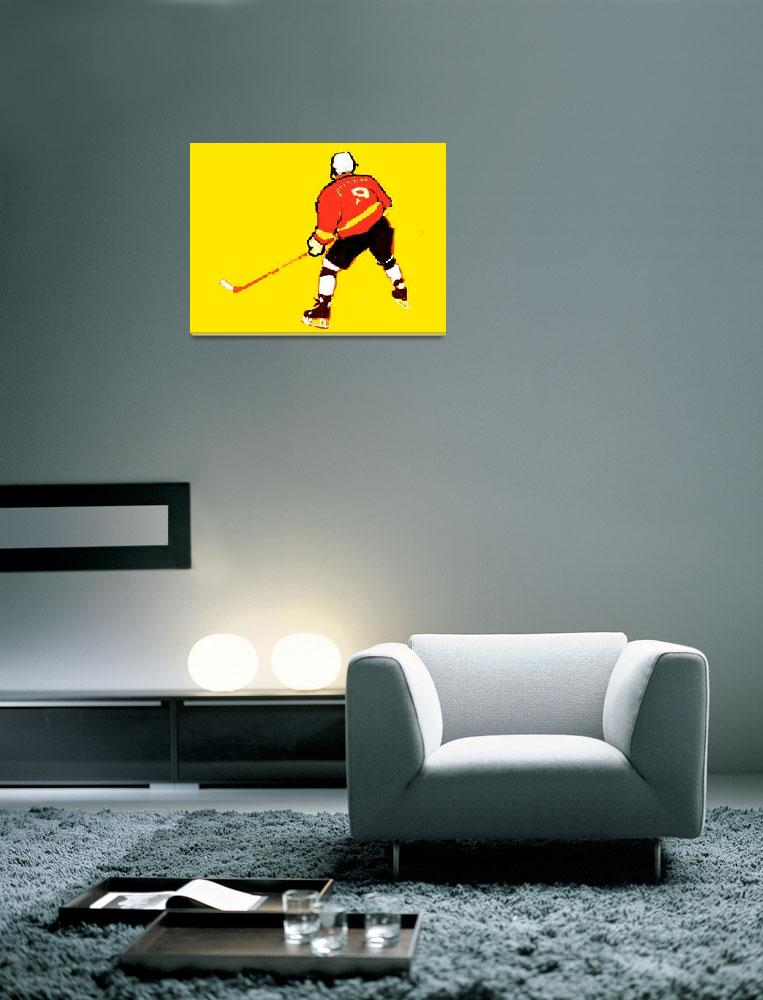 """""""Hockey Center yellow red black white (c)&quot  (2014) by edmarion"""