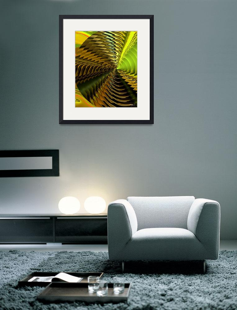 """""""Abstract of a Yellow & Lime Cymbal&quot  (2009) by CherylDaniels"""