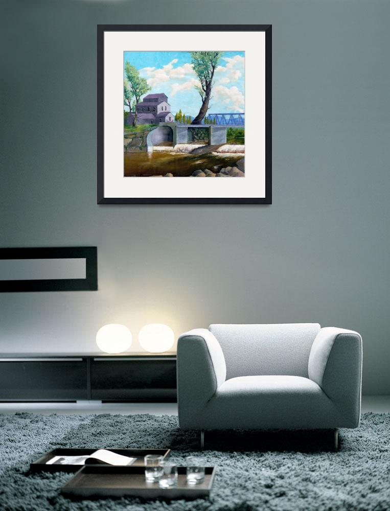 """""""Old water mill&quot  (1994) by bishe"""