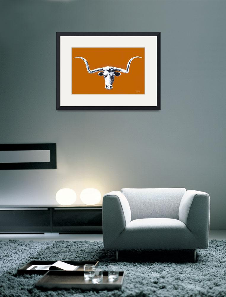"""""""Longhorn Poster&quot  by AnimalsbyDiDi"""