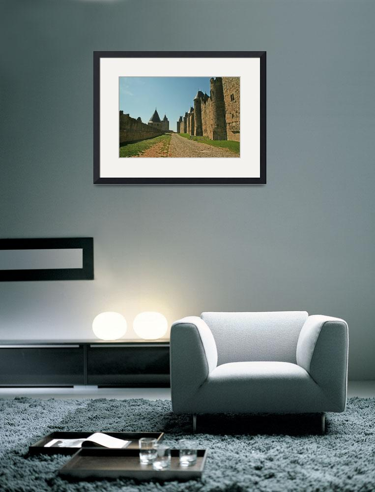 """""""Road in Carcassonne&quot  (2009) by nicholasbooth"""