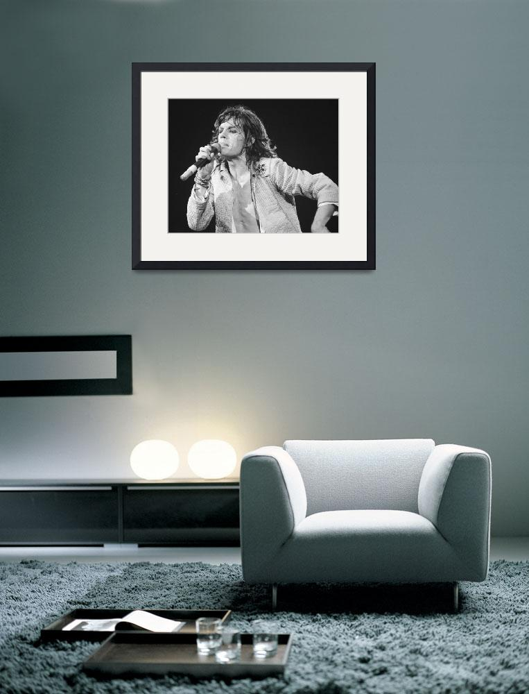 """""""Mick Jagger leans into the microphone&quot  by RetroImagesArchive"""