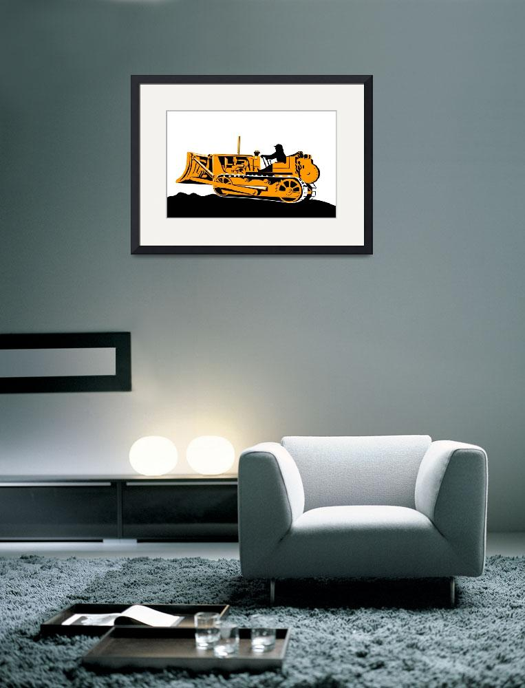 """illustration of a bulldozer mechanical digger on i&quot  (2013) by patrimonio"