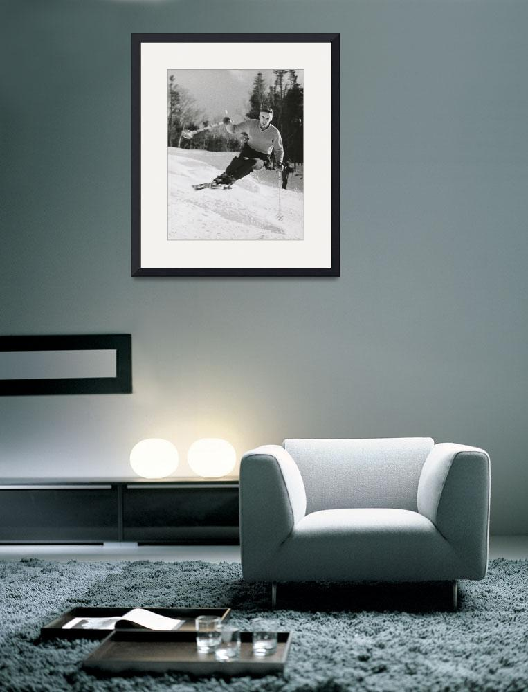 """""""40s Skier&quot  (1948) by TonyGaubaPhoto"""