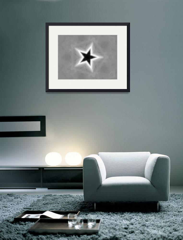 """Gray Kaleidoscope Art 26 Star&quot  (2009) by ChristopherInMexico"