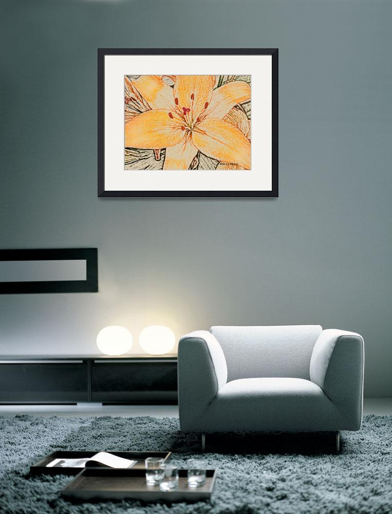 """Pencil Lily&quot  (2008) by Bonniemarie"