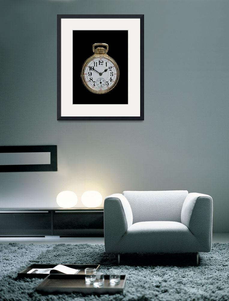 """""""Art Deco Gold Pocket Watch&quot  (2009) by ImageArt-Photography"""