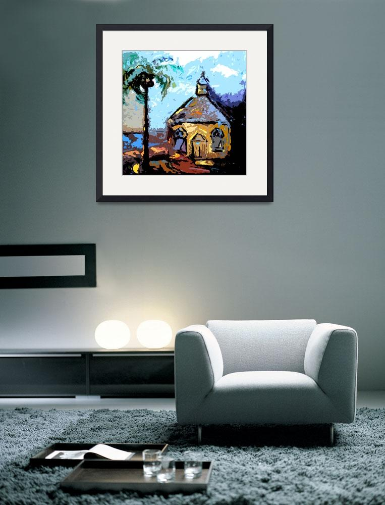 """""""Island Chapel Bahamas Original Art by Ginette&quot  (2012) by GinetteCallaway"""