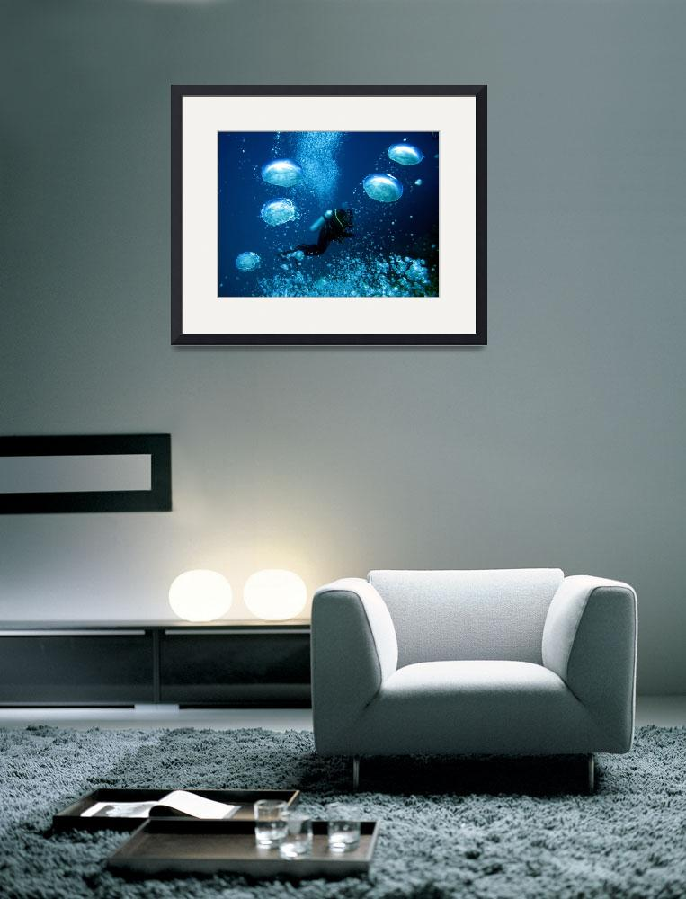 """""""Underwater bubbles""""  (2010) by MKJimages"""