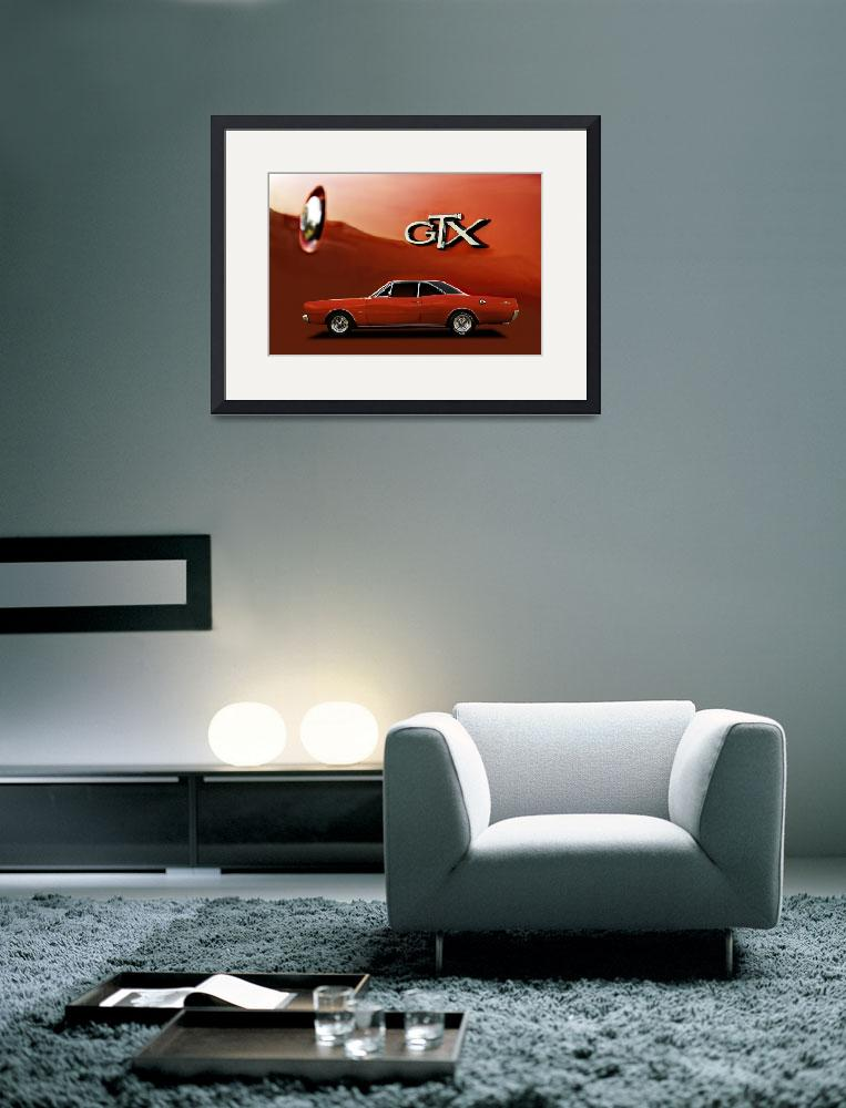 """Red Dodge GTX Coupe poster&quot  (2013) by felixpadrosa"