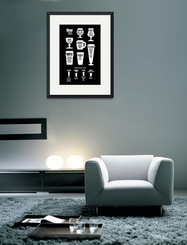 """""""Beer Poster Cheat Sheet Black Reversed&quot  (2012) by jijjle"""