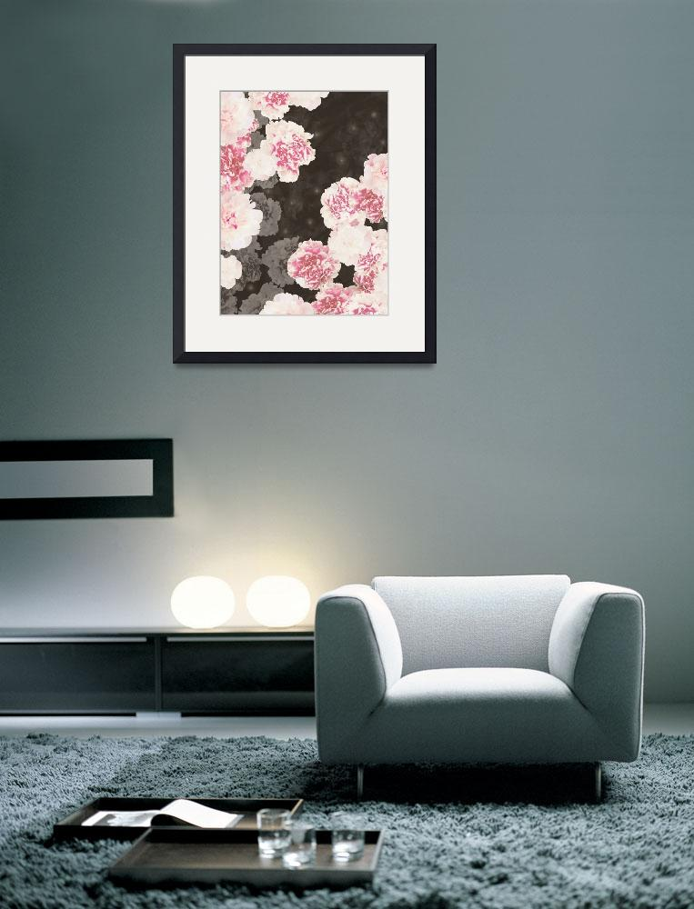 """Night Peonies Black&quot  by cozamia"