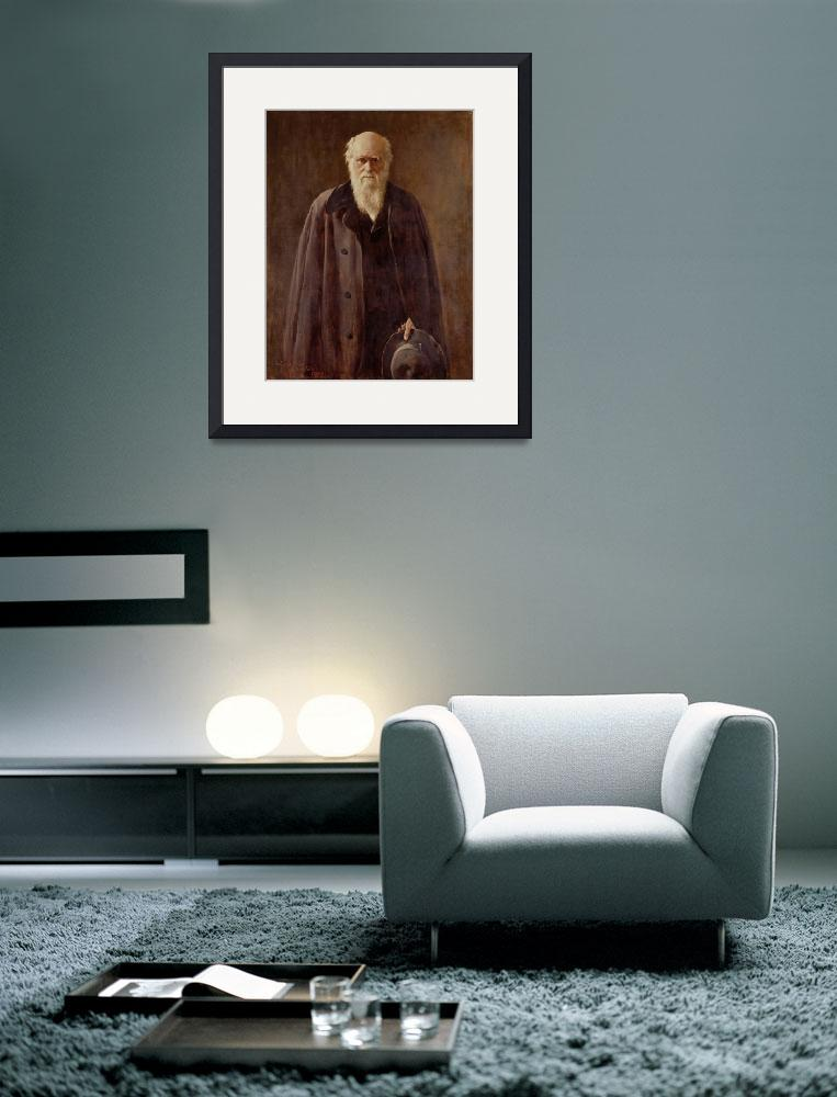"""""""Portrait of Charles Darwin&quot  by fineartmasters"""