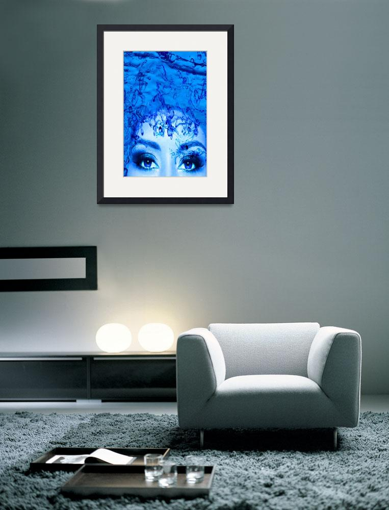 """""""BLUE EYES&quot  (2014) by Icarusismart"""