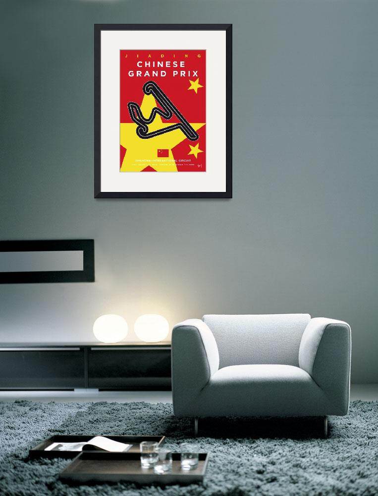 """""""My F1 Shanghai Race Track Minimal Poster&quot  by Chungkong"""