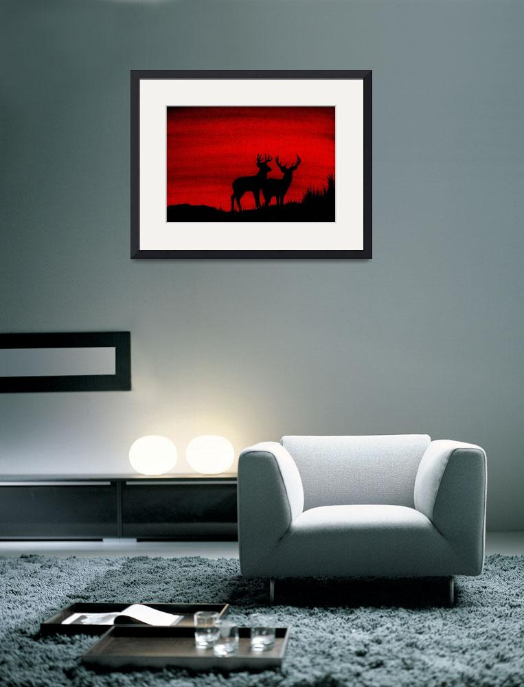 """""""Whitetail Deer at Sunset&quot  (2009) by vigliotti"""