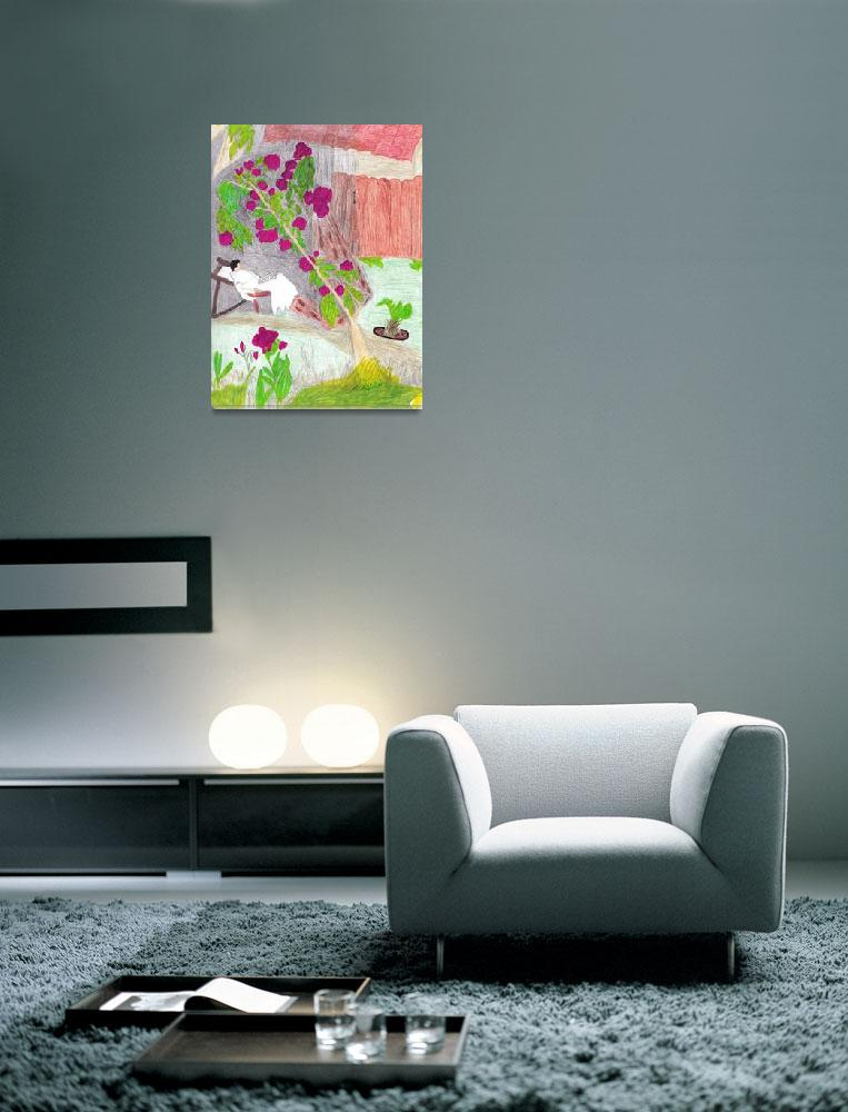 """""""Relaxing In The Flower Garden""""  (2012) by dotsiescreations"""
