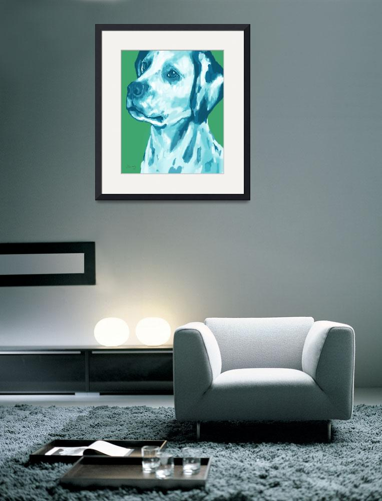 """""""pop art dog  -  stylised drawing poster&quot  (2014) by visualharbour"""