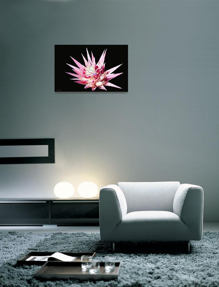 """Expressive Bromeliad Floral Still Life E3517""  by MasArtStudio"