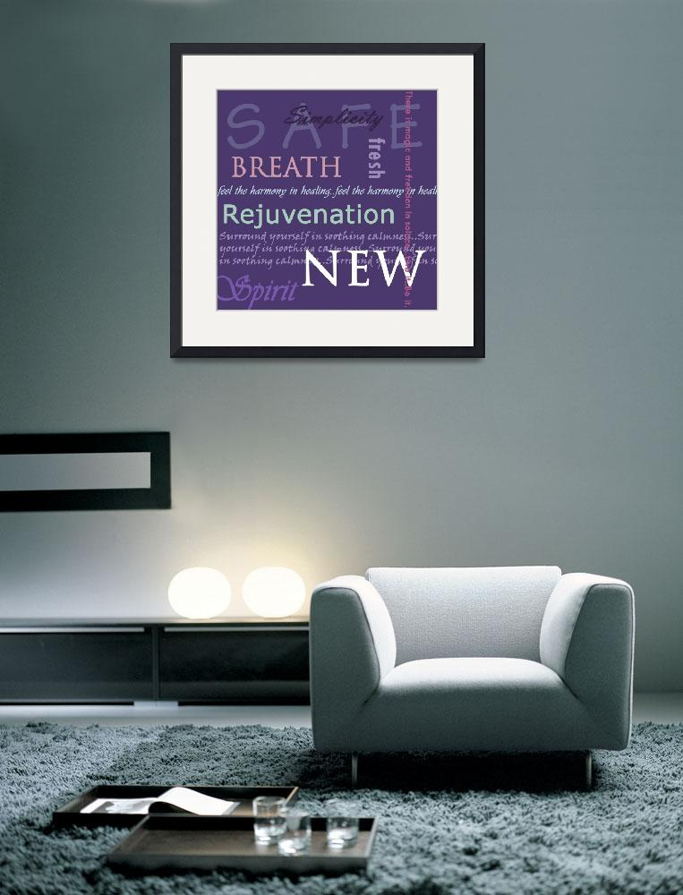 """purple meditation text&quot  (2009) by TCRAWFORD"