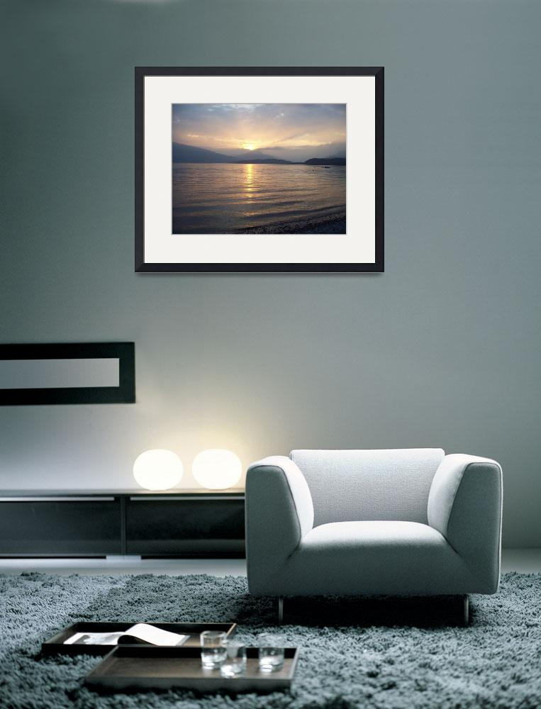 """""""Sunset on the shores of Loch Lomond&quot  (2009) by Shaz"""