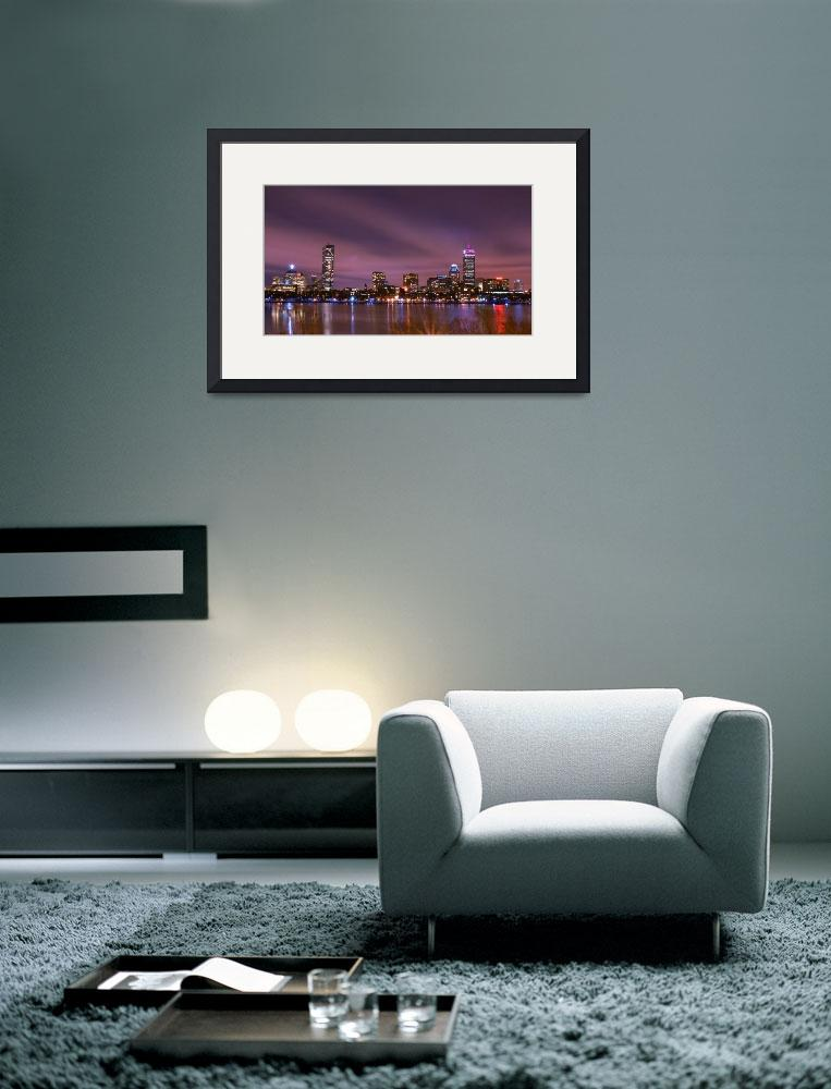 """""""Night View of Boston Skyline from MIT&quot  (2011) by BostonSkyline"""