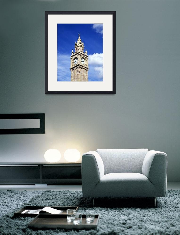 """Low Angle View Of A Clock Tower, Albert Memorial C&quot  by DesignPics"