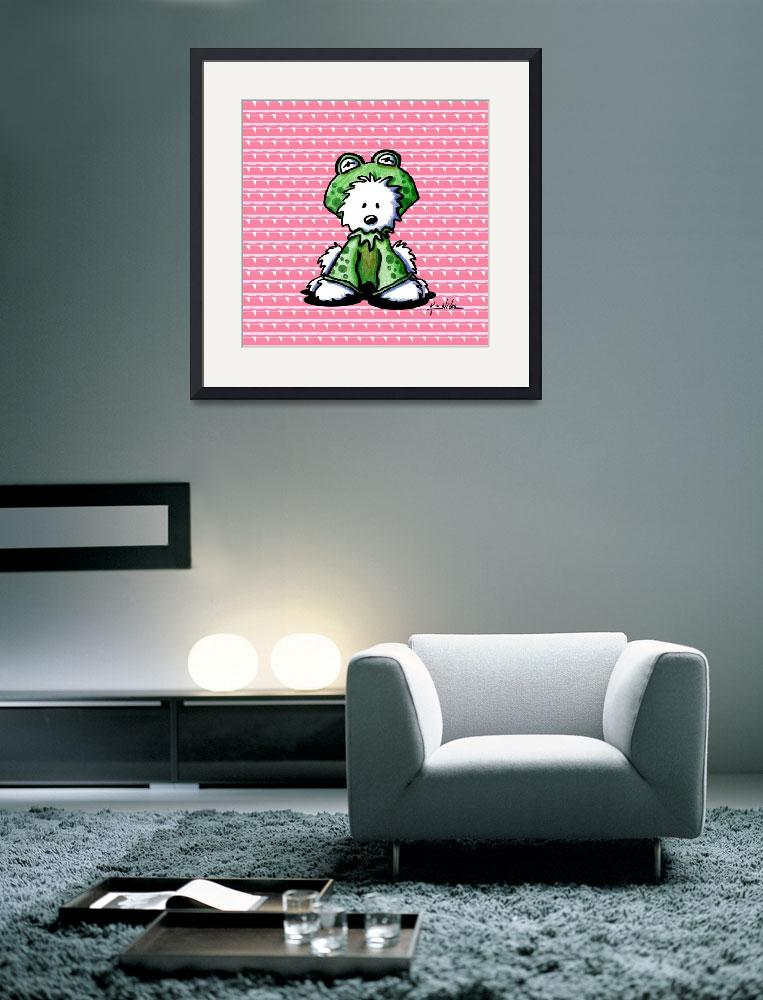 """""""Frog Prince Westie&quot  (2006) by KiniArt"""