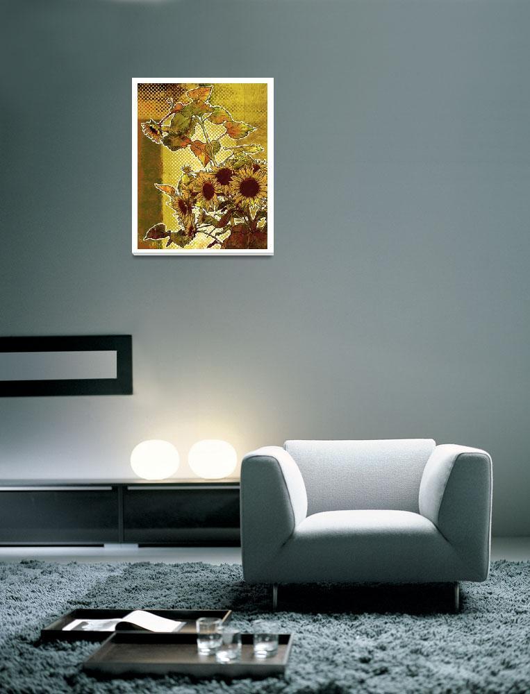 """""""Modern Florals: Sunflowers""""  (2009) by karynlewis"""