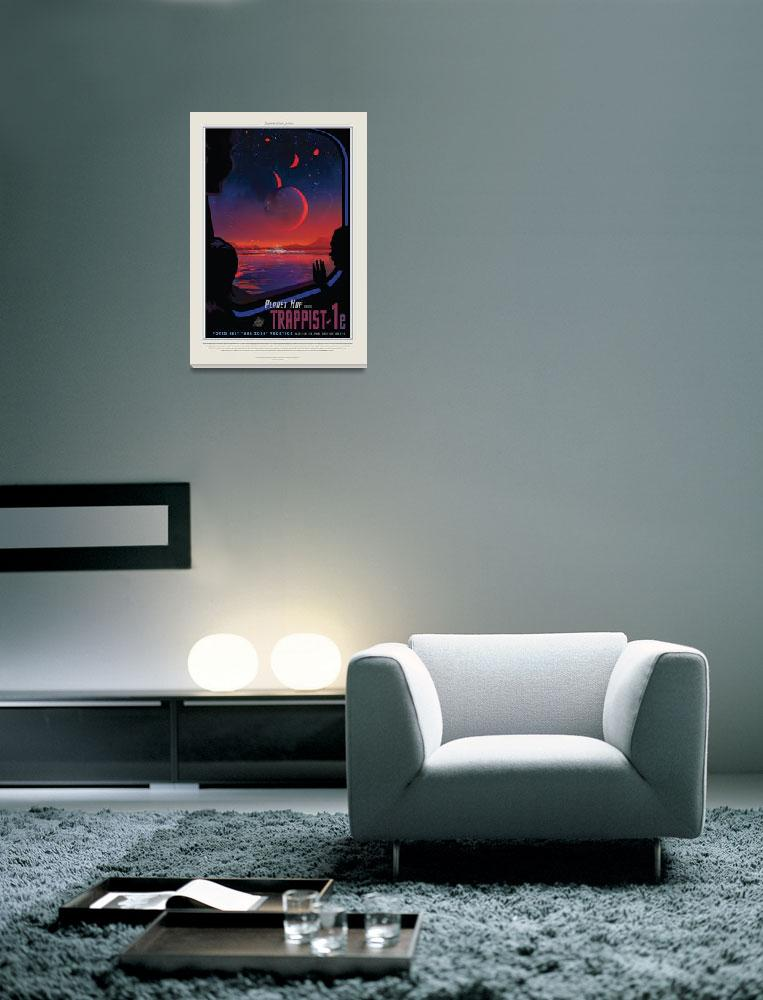 """""""Nasa Travel Poster Trappist&quot  by FineArtClassics"""