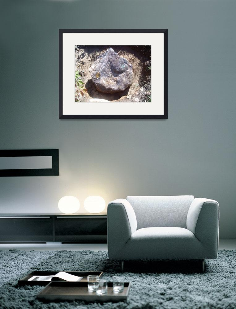 """""""Pudding Stone Boulder - top view&quot  (2010) by PuddingStoneAlley"""