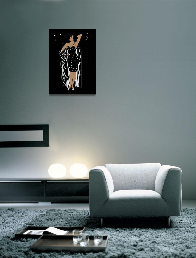 """Poster Vintage Glamor Girl Black White&quot  by shanmaree"