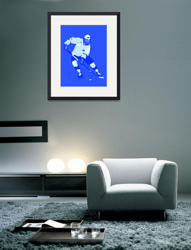 """Hockey Left Wing blue (c)""  (2014) by edmarion"