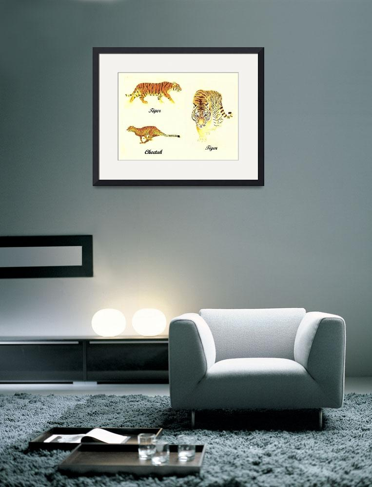 """""""3 Big Cats Paintings&quot  (2011) by vigliotti"""