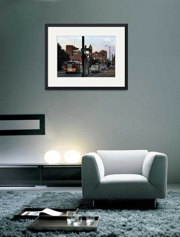 """""""Ann Arbor Street Scenes - Looking East on Huron St&quot  (2009) by patsphotos"""