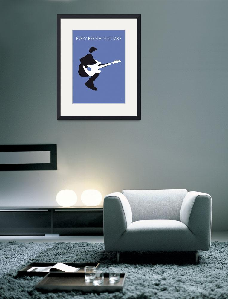 """""""No058 MY THE POLICE Minimal Music poster&quot  by Chungkong"""