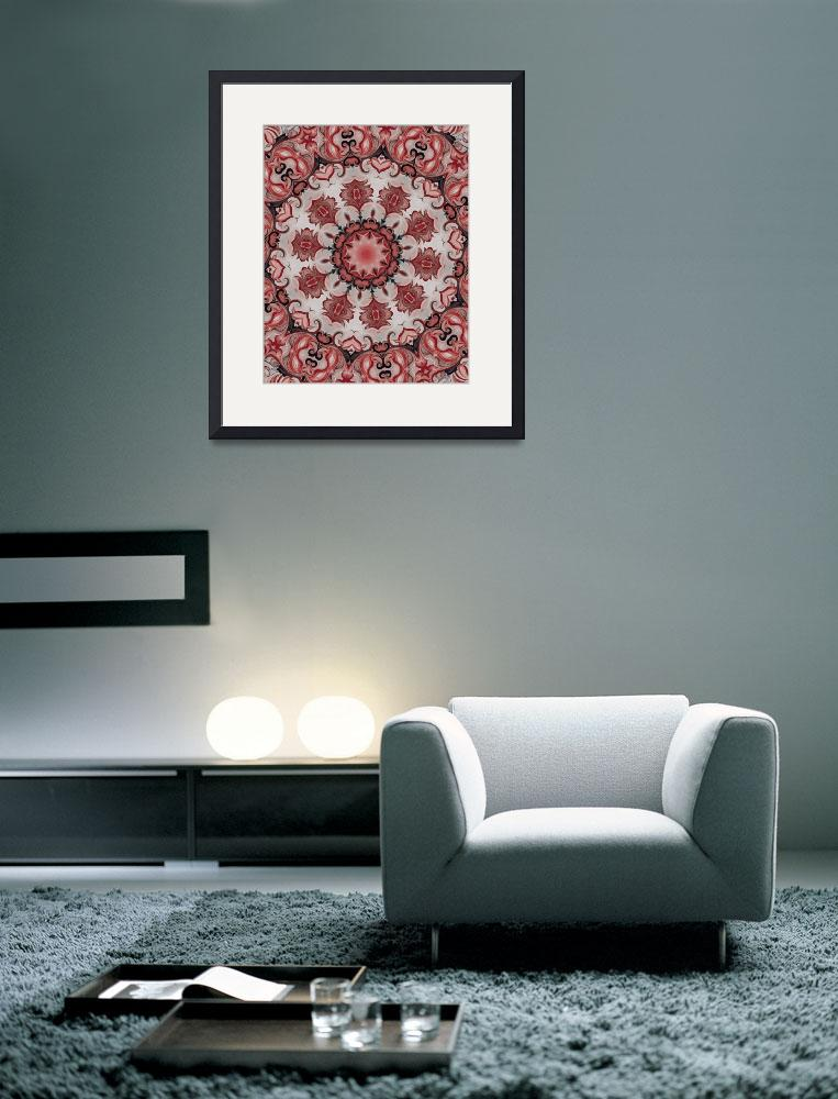 """""""Red Rosette Motif No. 40&quot  (2011) by HeidiVaught"""