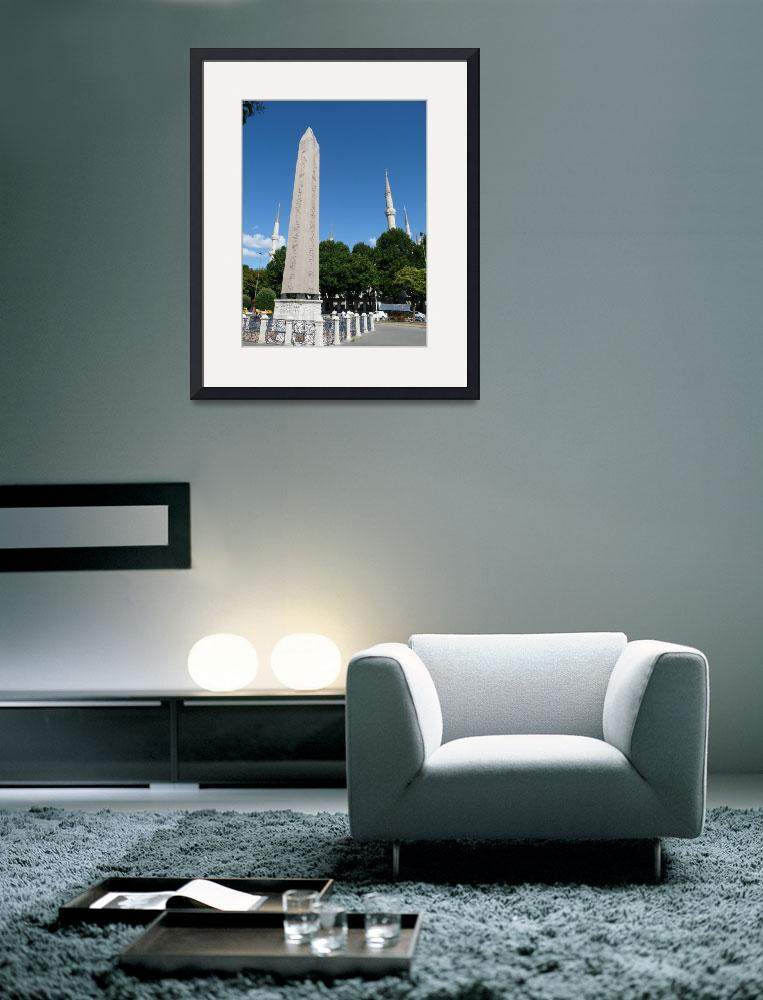 """""""Obelisk and the Blue Mosque, Istanbul, Turkey""""  (2009) by raftergood"""