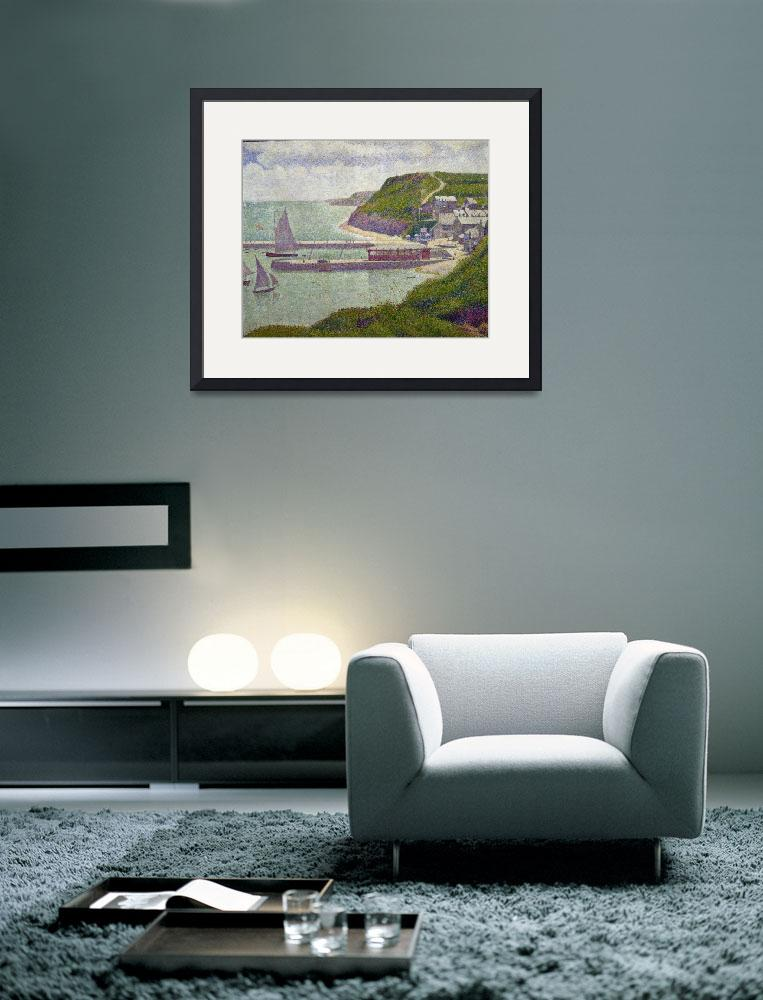 """""""Harbour at Port-en-Bessin at High Tide, by Seurat&quot  by fineartmasters"""