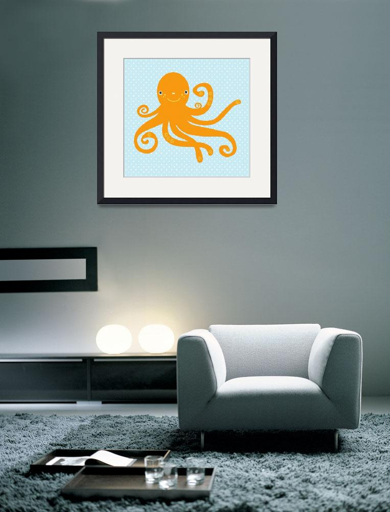 """""""Octopus (blue)&quot  by littlebubbies"""