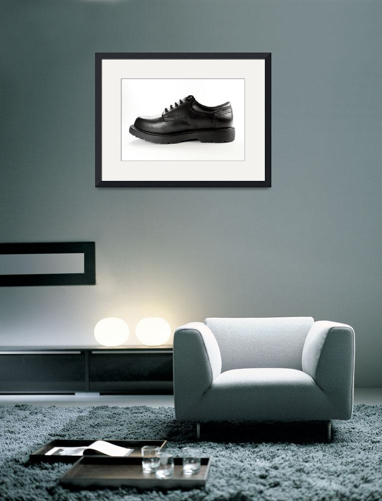 """Black leather shoe.&quot  by FernandoBarozza"